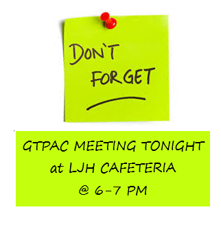 3rd PAC Meeting Reminder Post-it