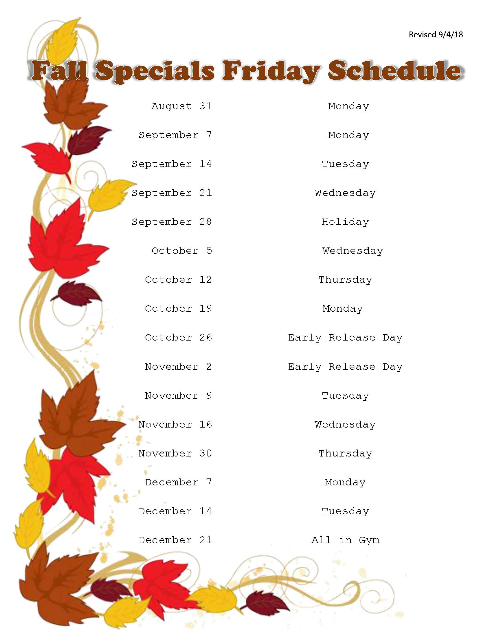 Fall Specials Friday Schedule 2018_Page_1