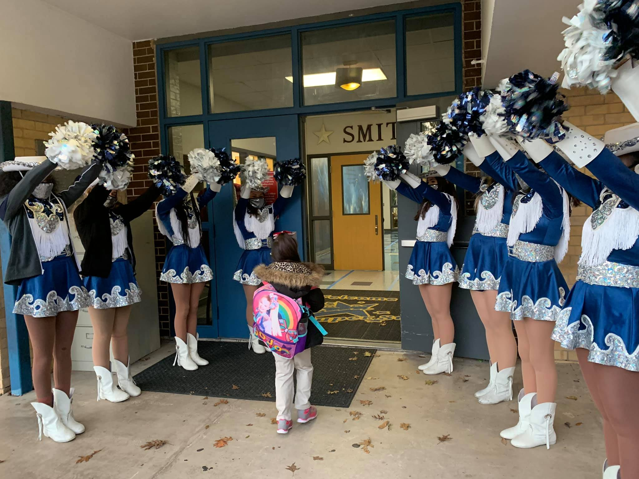 Fillies Greeting Students