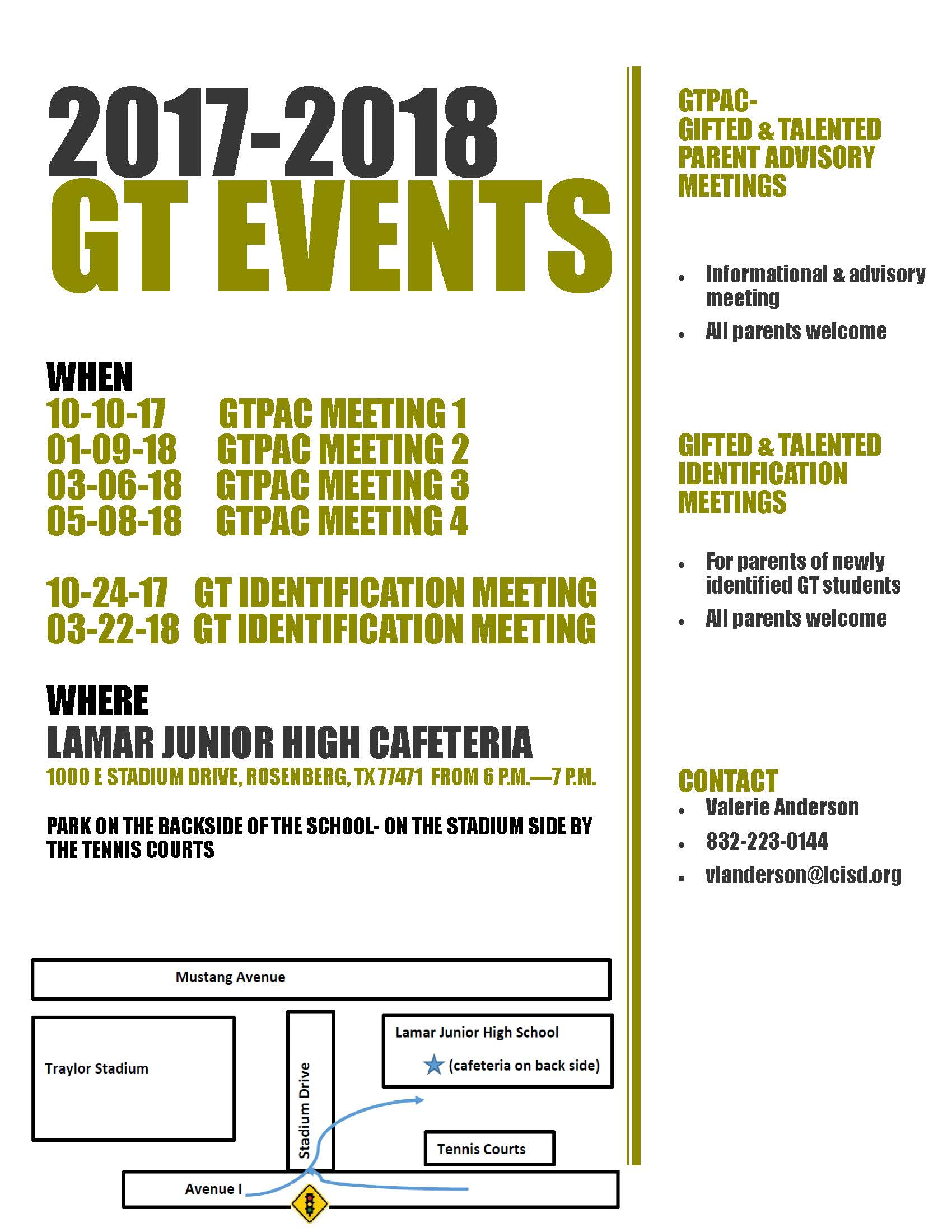 GT Event Flyer 2017-2018