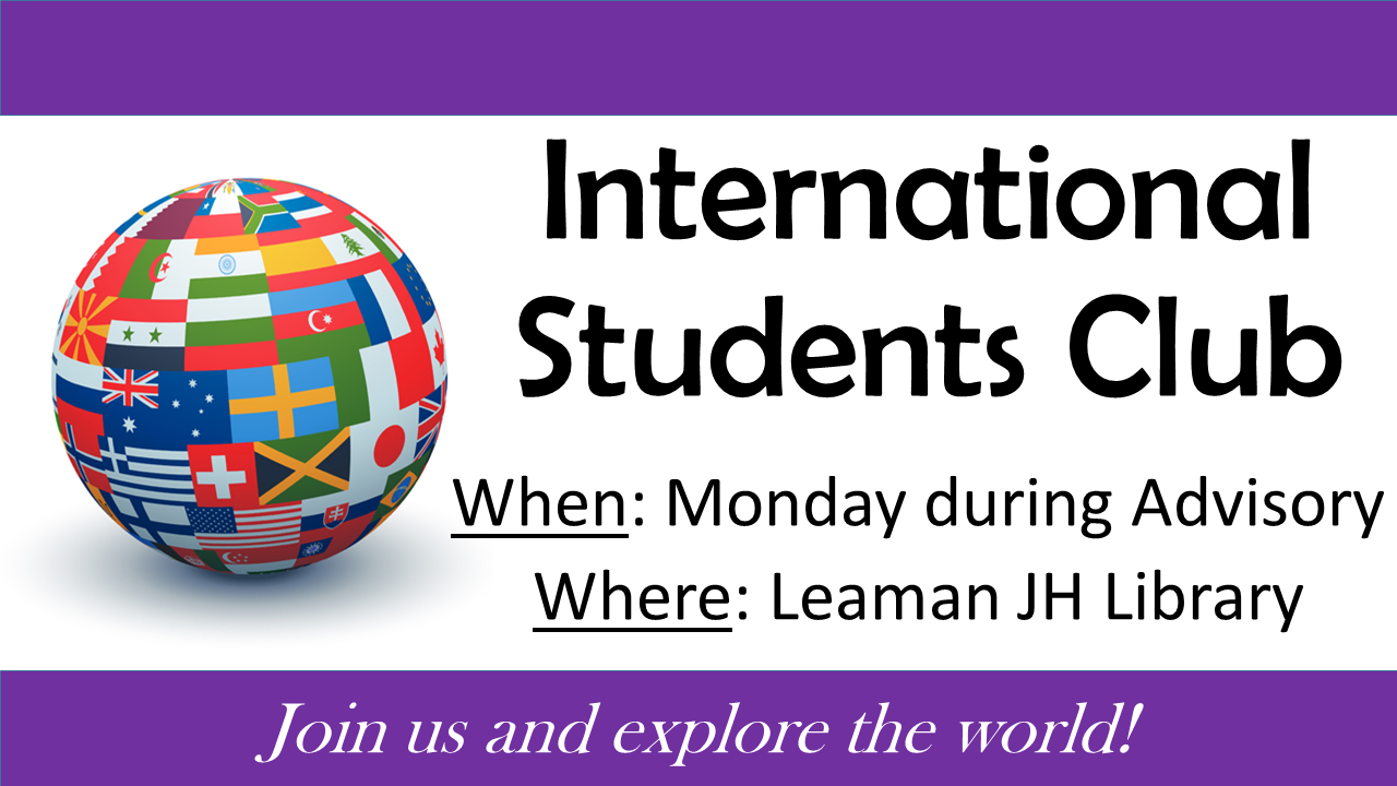 International Students Club meeting poster