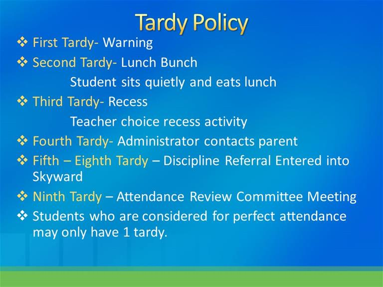 School Letter To Parents For Tardy