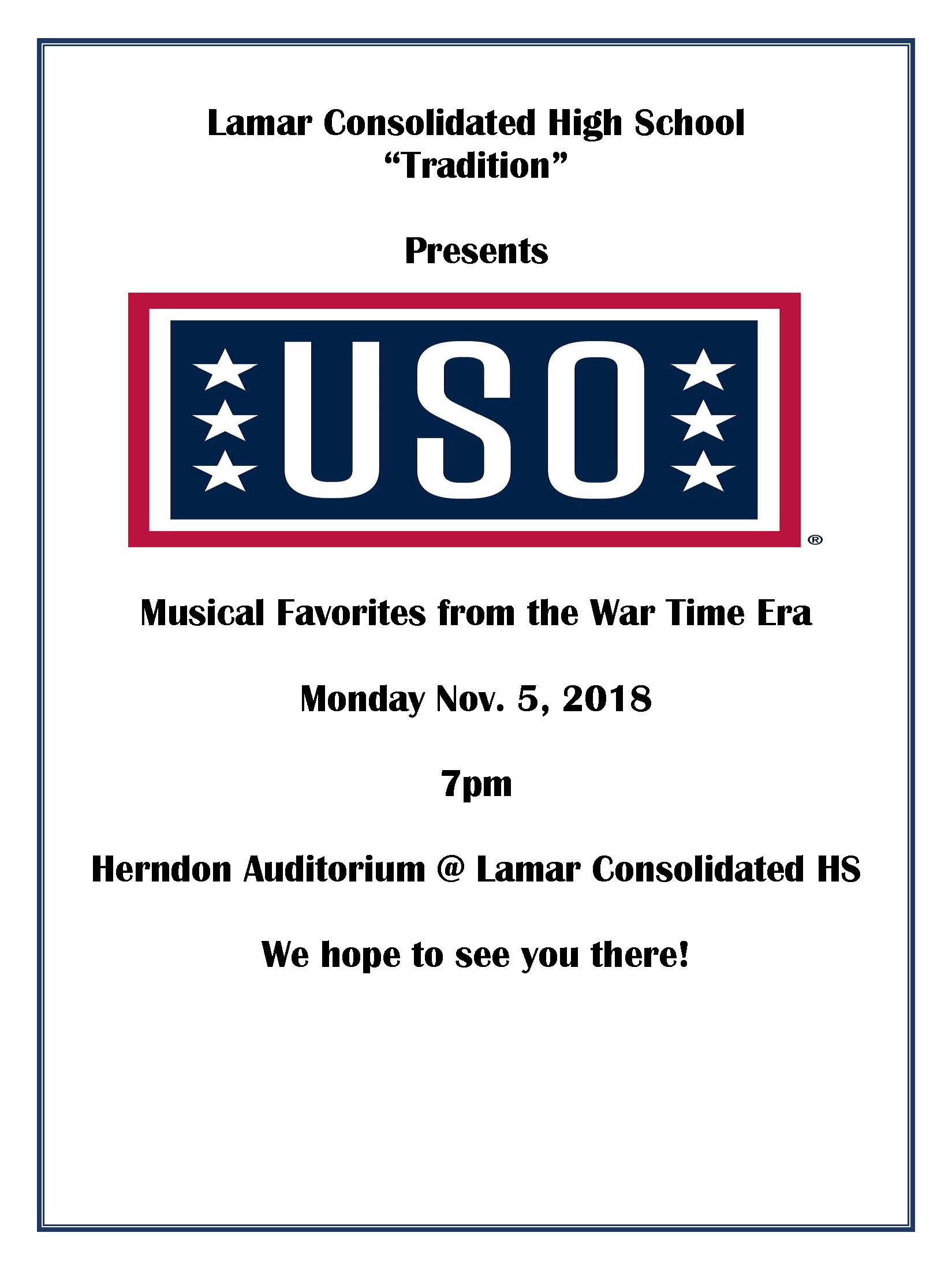USO Flyer