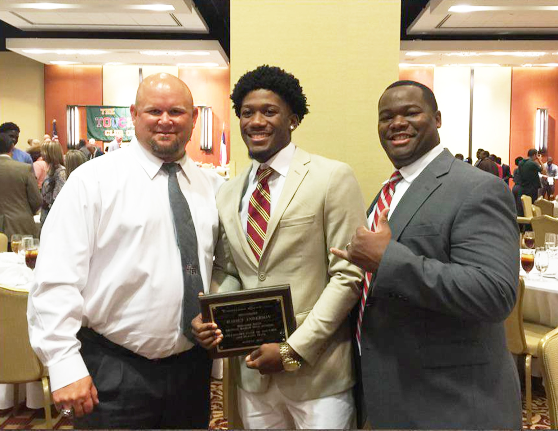 george ranch s anderson and tullos d area s best ricky tullos darius anderson and grhs principal dr fred black